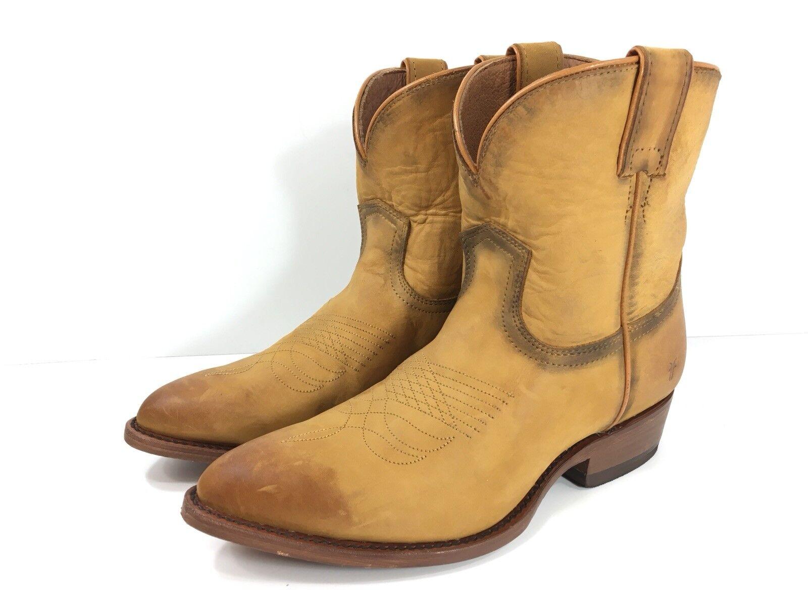 Frye Cognac botas Para Mujer Billy corto  71440 Cognac Frye Cuero Tostado Western Botines Nuevo  258 fe5df3