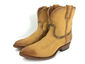 2f9a4de80ec Details about Frye Boots Womens Billy Short #71440 Cognac Tan Leather  Western Booties New $258