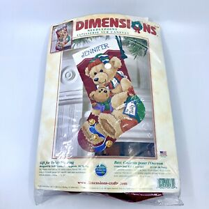 Dimensions-Needlepoint-Gift-for-Teddy-Stocking-Christmas-Holiday-Kit-9130