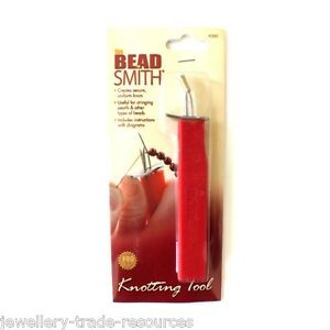 The Beadsmith EZ KNOTTING TOOL  = secure uniform knots stringing beads & pearls