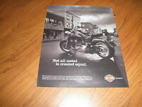 Vintage Harley Davidson Ad-not All Metal 2006-original Print-+cards