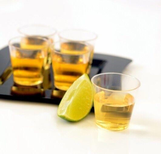 1 oz. HEAVY-DUTY PLASTIC SHOT GLASSES 2500ct. CLEAR BARWARE WHISKY CUPS BULK PK