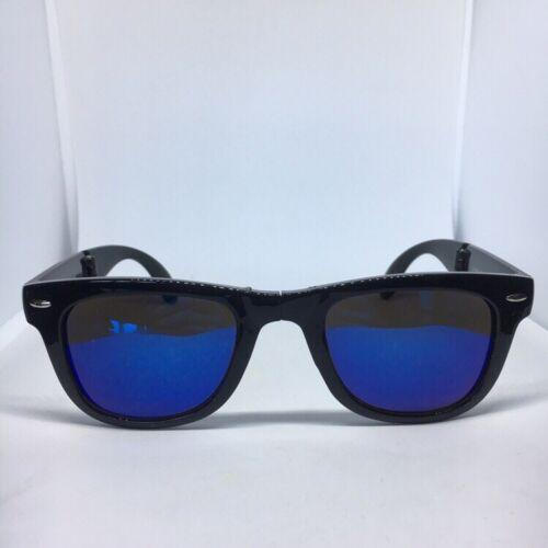 Unisex Men's Women's Mirrored Lens Foldable 400UV Sunglasses Vintage Retro Vtg