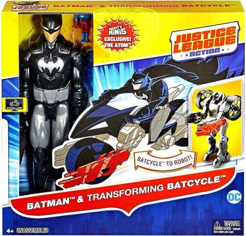 Justice League Batman /& Transforming Batcycle Action Figure /& Vehicle Set