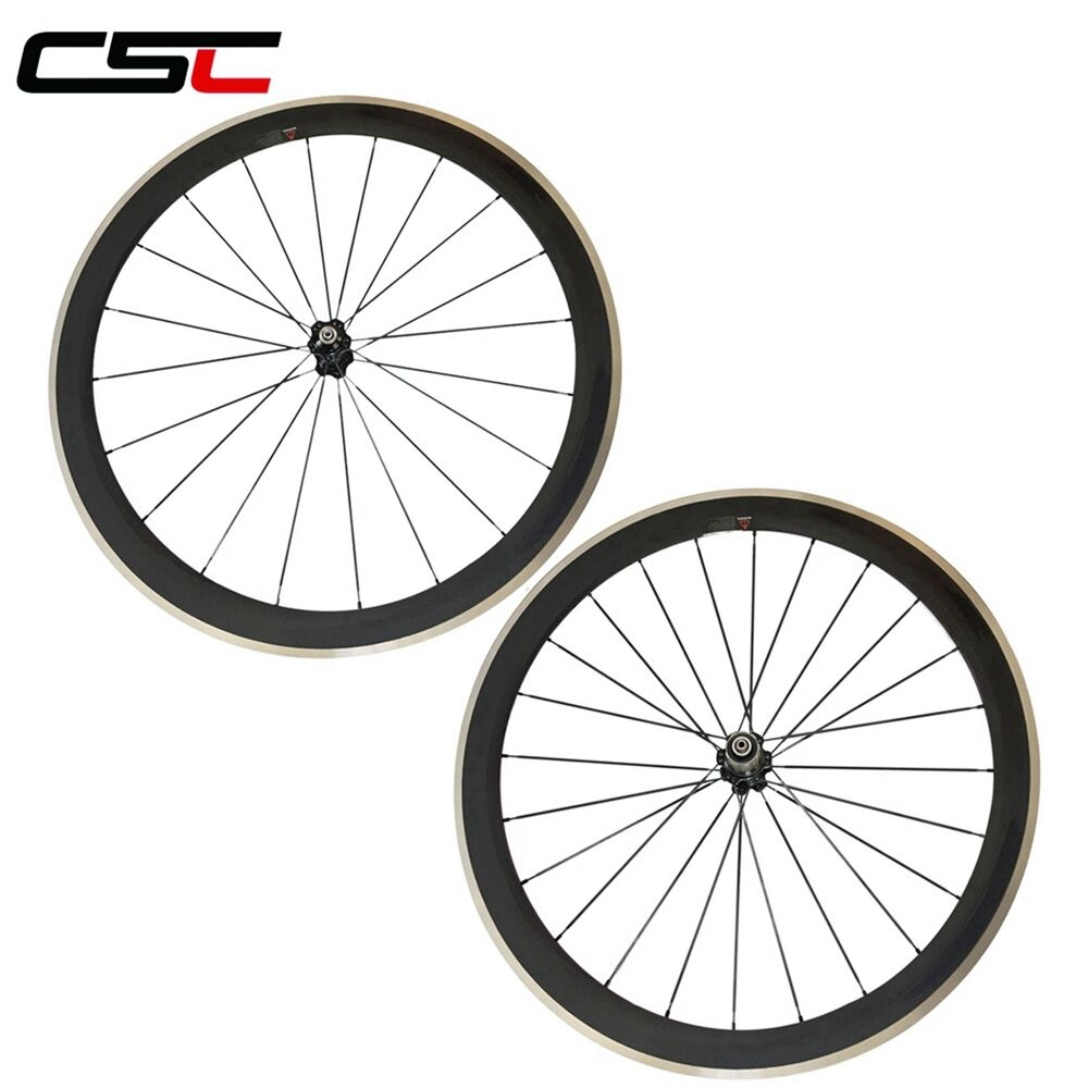 CSC 700C Carbon Road Cycling Wheel 50mm Clincher Alloy Braking Surface