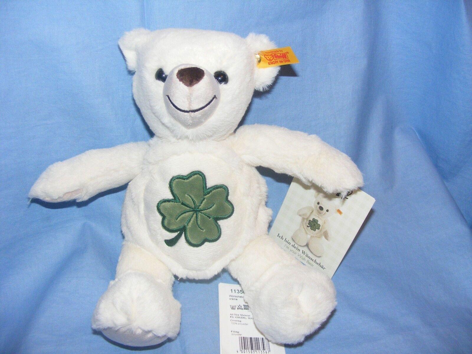 STEIFF WEICHE Wish Teddybär Klee EAN 113567 neuer Baby Taufe Geburtstagsgeschenk