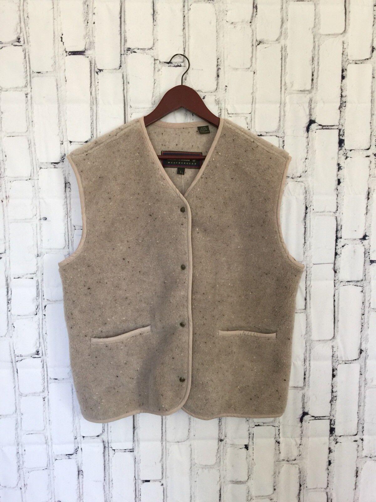 Timerland Weathergear Damenschuhe Vest Größe Large Oatmeal Wool Blend Made In