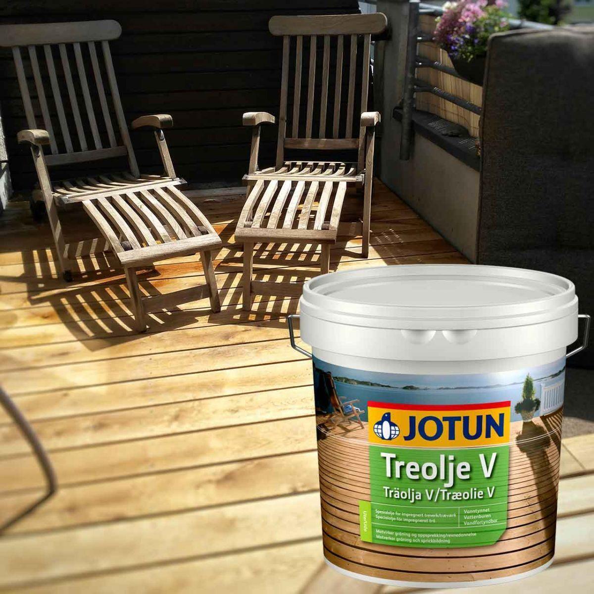 JOTUN TREOLJE Holzöl Gold / gylden 3l - pigmentiertes Gartenholzöl Holzschutzöl