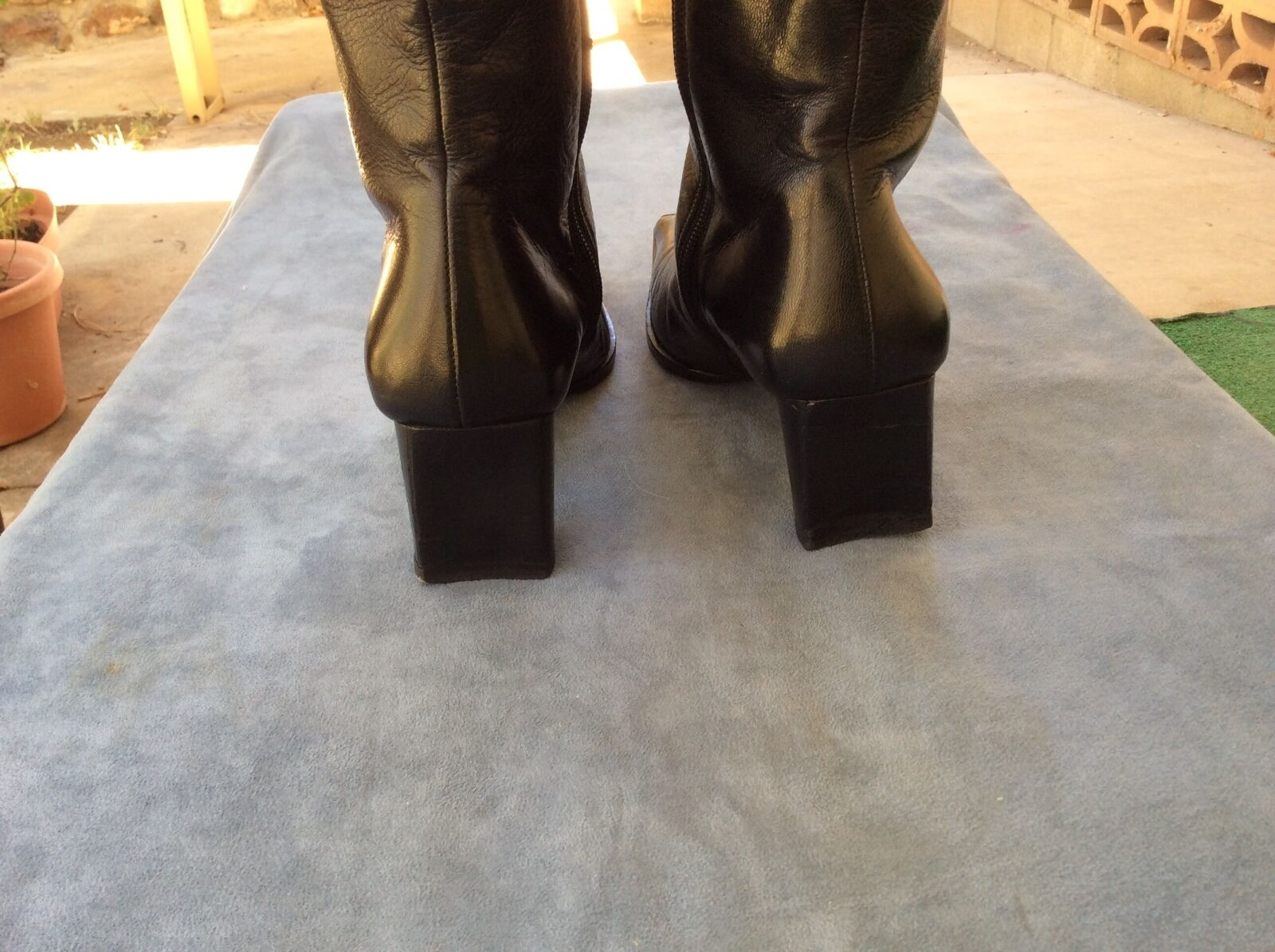 VERO CUOIO BALDININI BLACK LEATHER BOOTS.  LONG LIFE INDIAN INDIAN INDIAN   SIZE  37- 5 US e82d56