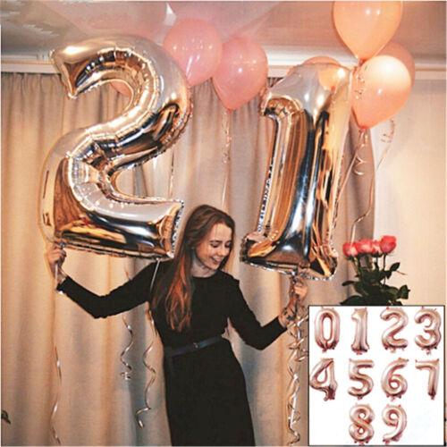 Or rose Ballon en aluminium ensemble Hélium numéro Balloon Party mariage Decor
