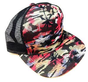 Multicolor-Camo-Palmen-Blumen-Hawaii-Print-Mesh-Trucker-Snapback-Muetze