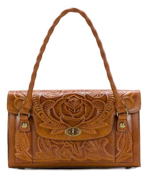 New Patricia Nash Burnished Tooled Sanabria Medium Shoulder Leather Bag