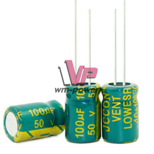 10//20//50//100PCS 50V 100uF 8x12mm High Frequency Radial Electrolytic Capacitor