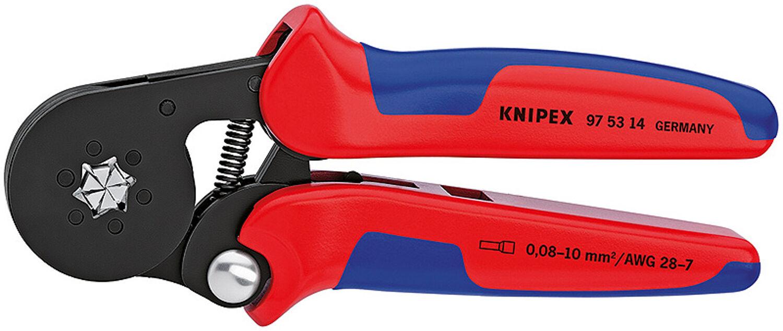 Knipex Crimpzange Quetschzange Zange für Aderendhülsen 0,08 - 10,0 qmm Neuware