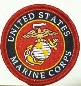United-States-Marine-Corps-Iron-On-Patch-USMC-Emblem-Red-Border