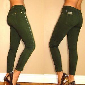 7 Kaki Mankind Jambe All Fermeture Jabot Skinny For clair Vert Jeans Sept Avec dwqxUBd