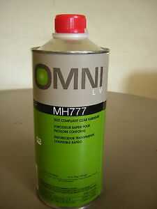 PPG Omni MH777 Qt. 32 oz Fast Compliant Clear Hardner For Omni MC770 Clear Coat