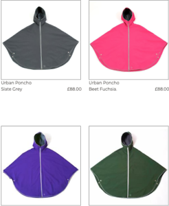 Otto London Poncho for Festivals Cycling Outdoors Pink // Blk // Prpl RRP£88