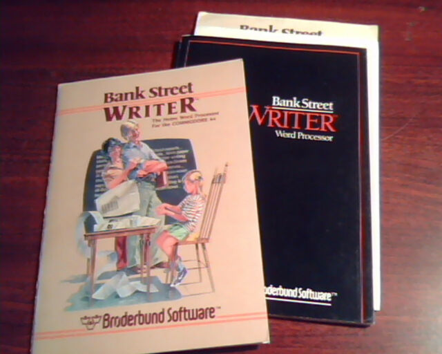 Bank Street Writer Broderbund - Home Word Processor Commodore 64 C64 Manual