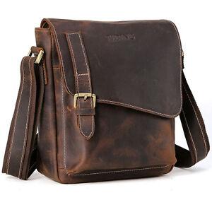 Genuine-Leather-Men-Vintage-Gift-Shoulder-Messenger-Crossbody-Sling-Bag-SATCHEL