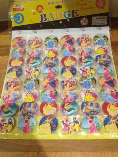 jeux 10 X Princesse Disney badges Fête Sac Remplissage Fête D/'Anniversaire Faveurs