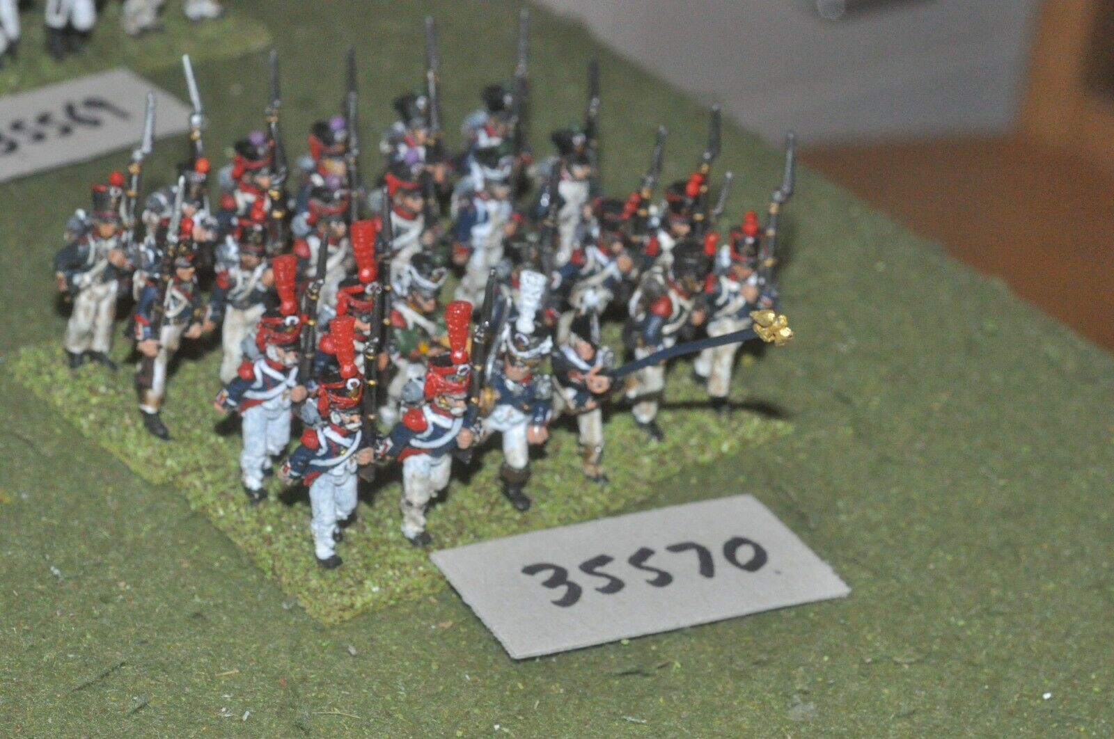 25mm napoleonic   french - regiment 24 figures - inf (35570)