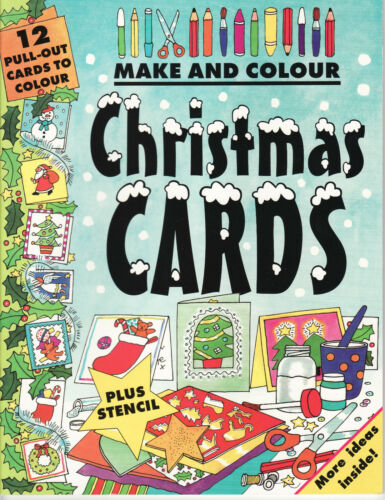 1 of 1 - CHILDREN'S MAKE & COLOUR ACTIVITY BOOK BY CLARE BEATON - CHRISTMAS CARDS
