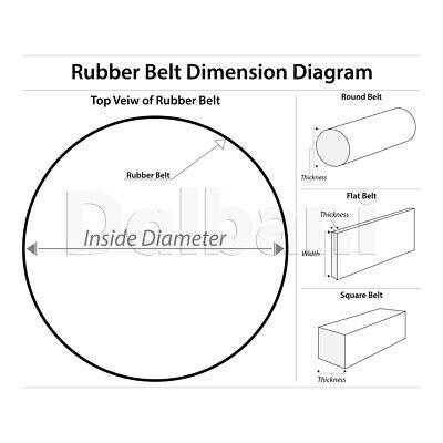 Square Rubber Belt 1.6mm Thickness 11mm Diameter VCR Cassette Tape Arduino Motor