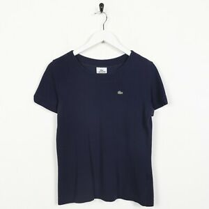 Vintage-Women-039-s-LACOSTE-Small-Logo-T-Shirt-Tee-Navy-Blue-Small-S