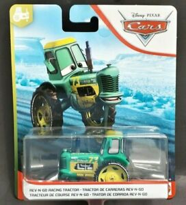 NEW DISNEY PIXAR CARS REV-N-GO RACING TRACTOR DIECAST VEHICLE NEW ON CARD