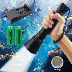 XHP70 LED Scuba Diving Taschenlampe Tauchlampe Unterwasser 100m Schnorchellicht