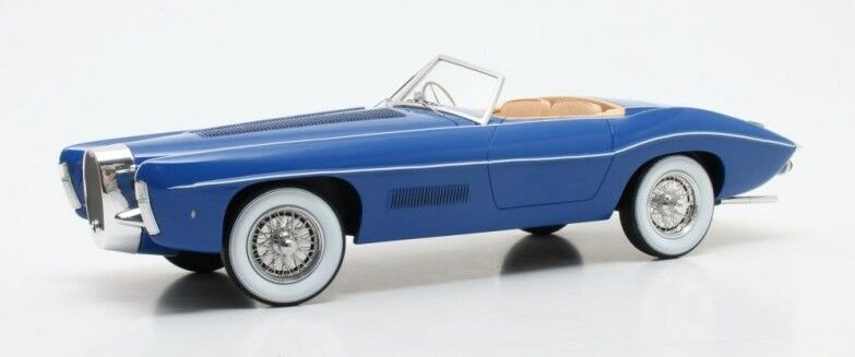 Matrix maxl0205-021 - bugatti t101c EXNER ghia cabriolet bluee - 1966 1 18