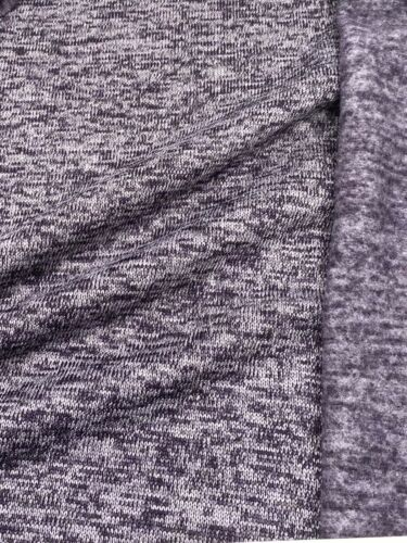 Strickstoff Strickfleece Stoff Fleece meliert 4 Farben ab 50cm
