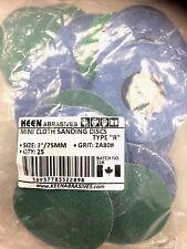 "10B6-05-25*A Grit AO40-25pcs KEEN #22799 3/"" Mini Cloth Sanding Discs"