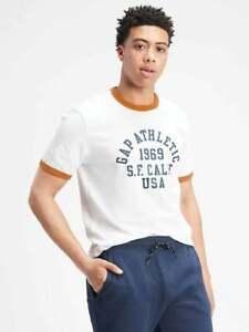 BNEW Gap Logo Athletic T-Shirt, White Global, Large