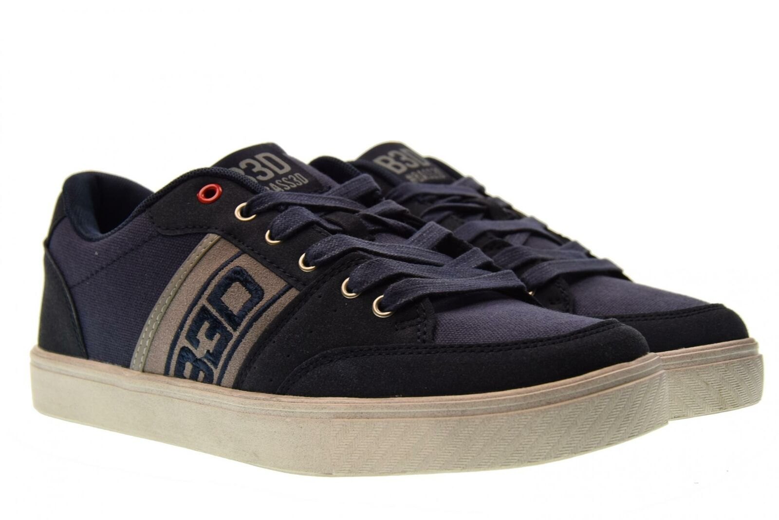 B3D shoes P18u shoes men low sneakers 40182 blue