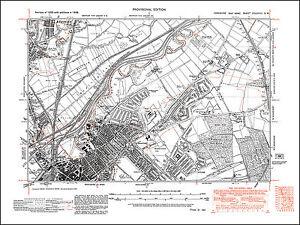 Doncaster NE, Wheatley, Bentley SE, old map Yorkshire 1938: 277SW ...