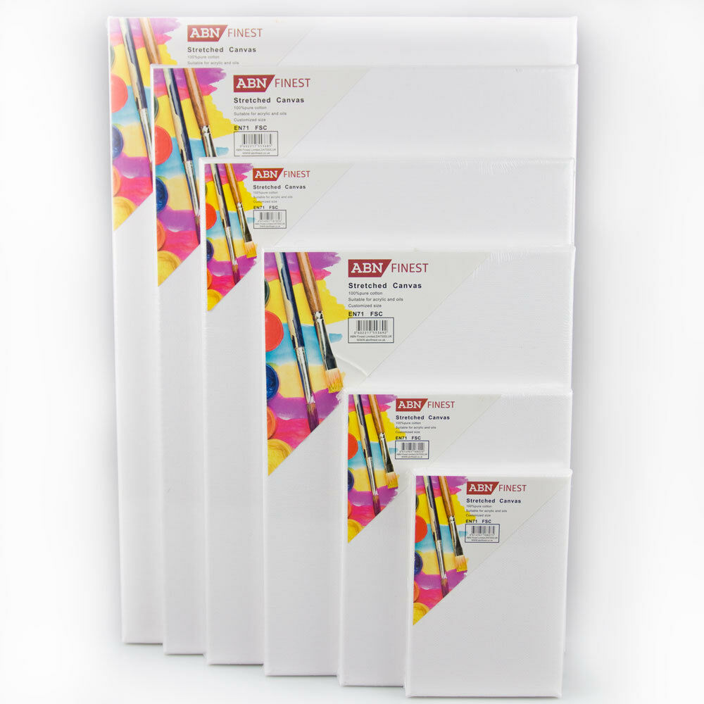 10x Plain Artist Canvas Frame White Board For Oil Painting Acrylic Stretched Art