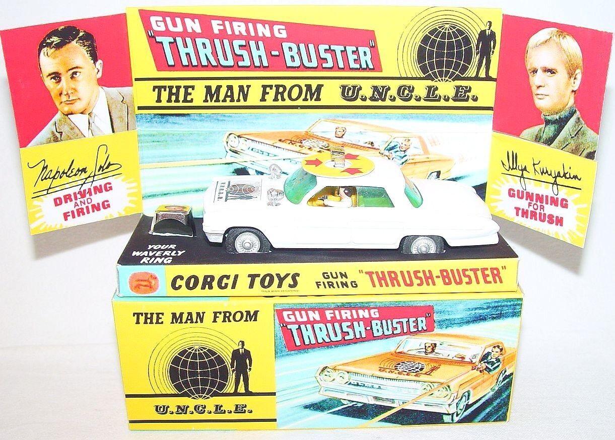 Corgi Toys 1 43 Oldsmobile THE MAN FROM UNCLE THRUSH-BUSTER White + Ring Box `66