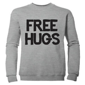 FREE-HUGS-CUTE-RETRO-CLASSIC-BOYS-PRINTED-NOVELTY-CHILDRENS-SWEATSHIRT-JUMPER