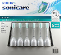 Philips Sonicare Toothbrush E Series 6 Pack Replacement Brush Heads