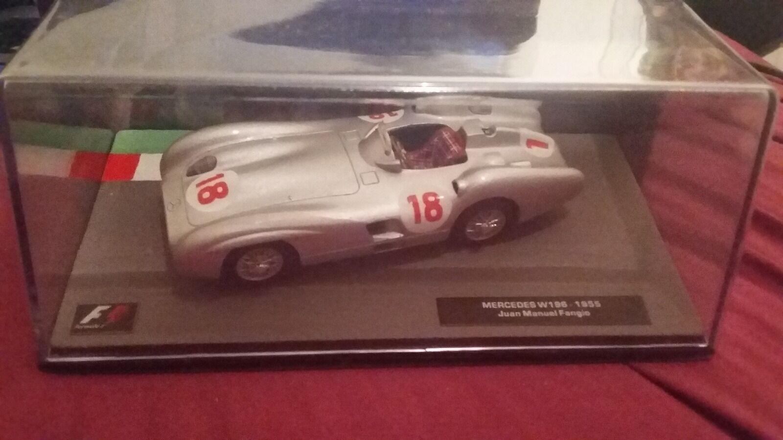 clásico atemporal Colección de Coche Modelo F1-Mercedes W196-1955 Juan Manuel Manuel Manuel Fangio En Caja  almacén al por mayor