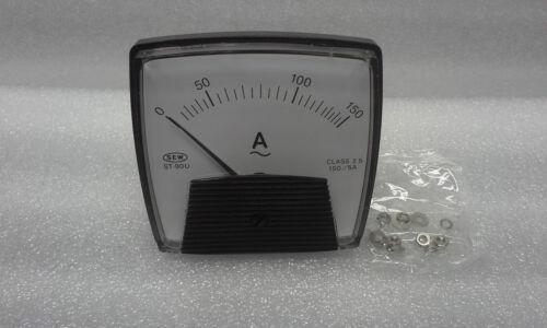 """0-150A//AC  Input 0-5A//AC SEW ST-90U PANEL METER 3.5/""""  Scale"""