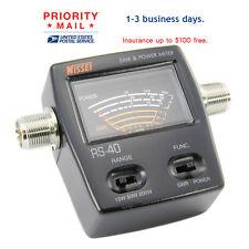 SWR Watt Power Meter NISSEI  RS-40  for HAM Mobile Radio  VHF UHF 200W meter