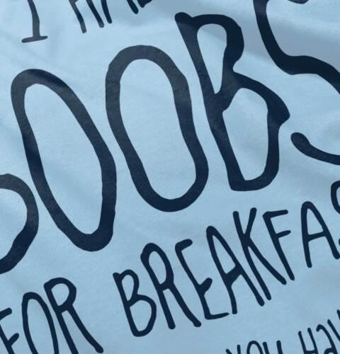 Boobs For Breakfast Funny Milk Drunk Gift Newborn Romper Bodysuit For Babies