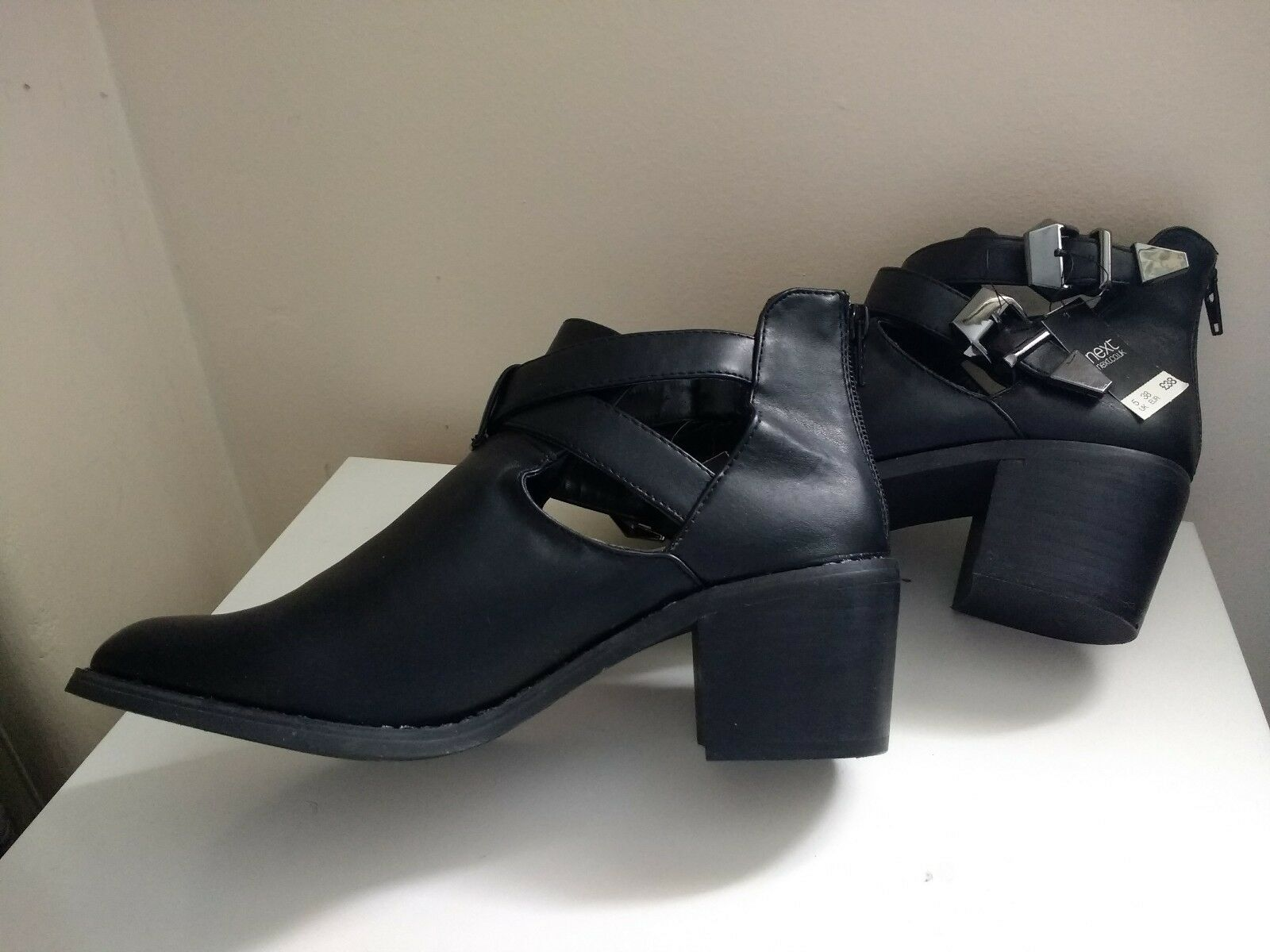 NEXT BLACK ANKLE BOOTS SIZE 5 NEW WITH TAGS