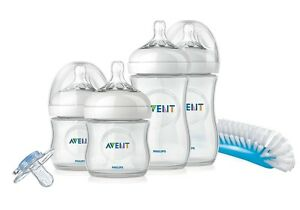 Philips-AVENT-NATURAL-Newborn-Starter-SET-SCD290-00-Bottles-Brush-Teats