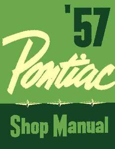 1957 pontiac catalina chieftain star shop service repair manual ebay rh ebay com 1955 Pontiac 1958 Pontiac