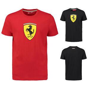 2018 Scuderia Ferrari Homme Logo Classique T-shirt En Coton Official Merchandise-afficher Le Titre D'origine