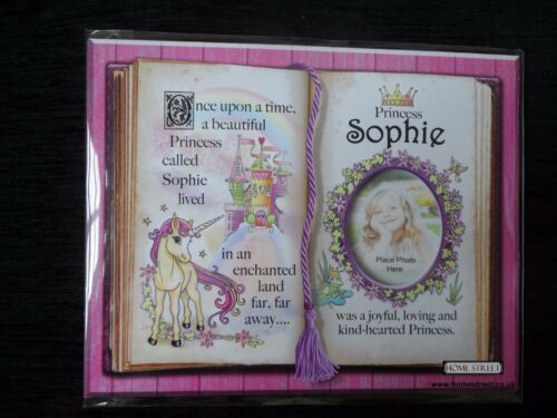 Sophie Princess Unicorn Mount Gift With Verse And Photo Space Choose A Frame